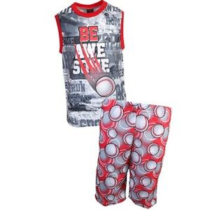Other - NWT Boys 2pc Baseball Shorts Pajamas